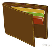 Wallet — Stock Vector