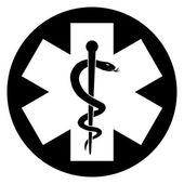 Medicine Symbol BW Silhouette — Stock Vector