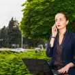 Businesswoman outdoor — Stock Photo