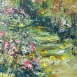 Stock Photo: Garden, oil panting