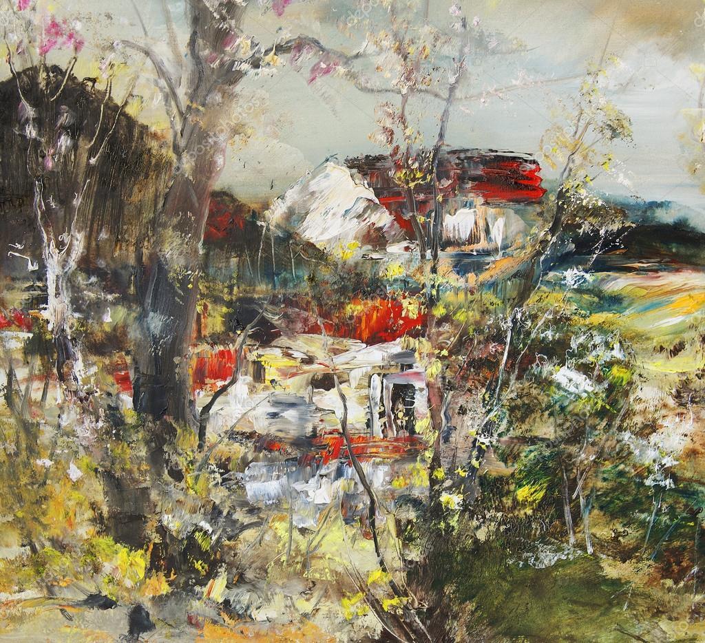 Картинки загородные дома весной