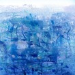Abstract illustration background in blue colors — Stock Photo