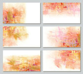 Set artistic background for business cards in orange colors — Foto de Stock