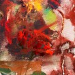 Stock Photo: Abstract background with motif of roses