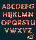 Decorative alphabet, capitals — Stockvektor