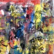 Stock Photo: Abstract acrylic painting on paper