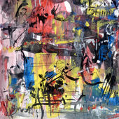 Abstract painting on paper — Stock Photo