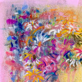Abstract painting with floral motif — Stock Photo