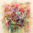Flowers, soft pastel painting — Stock Photo