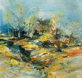 抽象的な風景, 油絵 — ストック写真