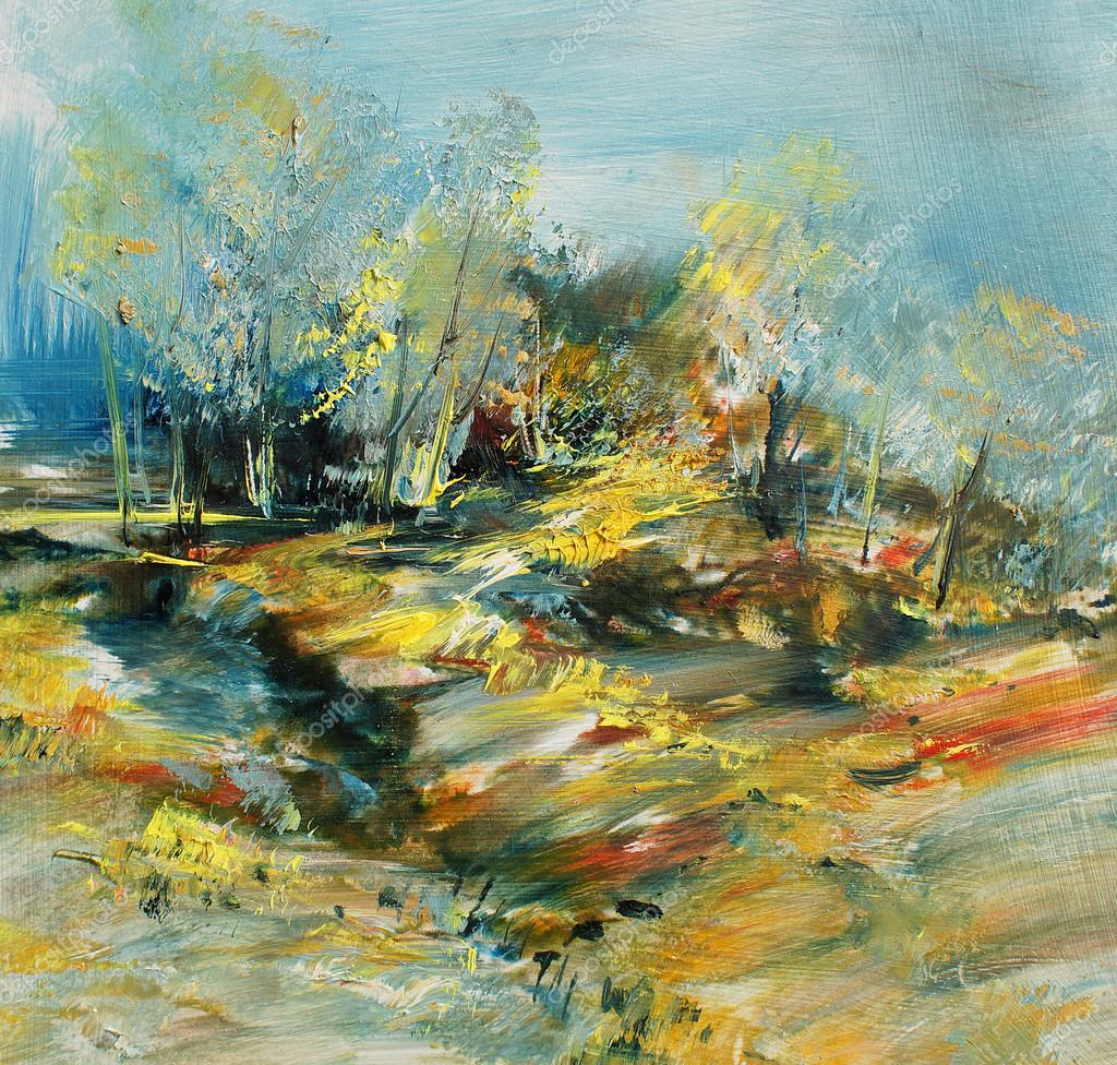Abstract oil paintings of landscape
