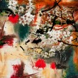 Spring motif abstract background — Stock Photo #45414159