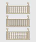 Set of silhouettes balustrades — Stock Vector