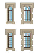Gothic windows set — Stock Vector