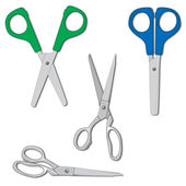 Scissors set vector illustration — Stock Vector