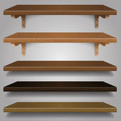 Vector - Wood Shelves, — Stock Vector