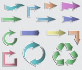 Vector illustration of sticky collection arrows. — ストックベクタ