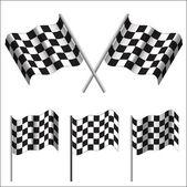 Checkered Flags (racing). Vector — Vector de stock
