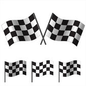 Checkered Flags (racing). Vector — Stok Vektör