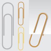 Paper clip, vector eps10 illustration — Stock Vector