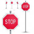 Stop road sign — Stock Vector #39676123