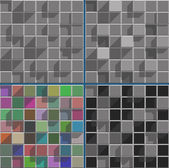 Abstract bright colored squares background mosaic — Wektor stockowy