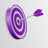 Dart hitting a target. Success concept. — Stock Vector