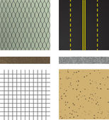 Set of asphalt road textures — Stock Vector