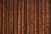 Wooden timbered wall — Stock Photo