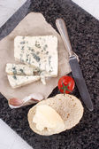 French blue cheese and bread roll — Stock Photo