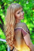 Long hair, beautiful blonde — Stock Photo