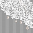 Lace background — Vector de stock