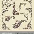 Vector set: Baroque design elements and page decoration — 图库矢量图片