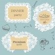 Lace frame labels — Stock Vector