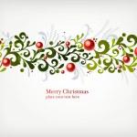 Christmas seamless ornament — Stock Vector