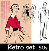 Retro set — Stock Vector