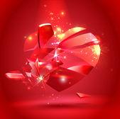 Broken heart — Stock Vector