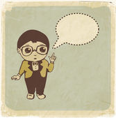 Little boy with speech bubble — Vector de stock