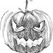 Halloween Pumpkin. Hand drawn vector — Stock Vector