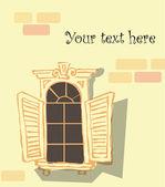 Vector old window — Stock Vector