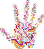 Handprint — Stock Vector