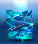 Pozadí abstraktní s ledová výseče. eps 10 — Stock vektor