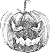 Halloween Pumpkin. Hand drawn vector — Stock Vector