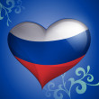 Russian Flag heart-shaped — Stock Vector