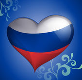 Russian Flag heart-shaped — Stock Vector