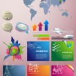 Travel Infographic set. Vector illustration — Stock Vector