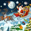 The christmas - Santa Claus - illustration — Stock Photo