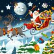 The christmas - Santa Claus - illustration — Stock Photo