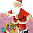 The santa claus with presents — Stock Photo