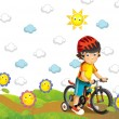 Stock Photo: The child on the bicycle